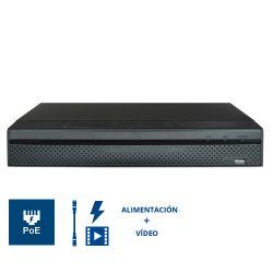 XS-NVR3208-4K8P NVR X-Security de 8 cámaras IP de 8 Mpx (4K) 8 PoE 2 HDD