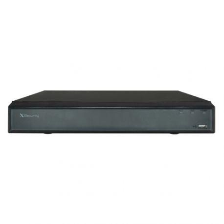 Grabador X-Security de cámaras IP de 16 canales de 12 Mpx. con alarmas, admite 2 HDD