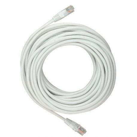 Latiguillo de red de 10m, cable UTP categoría 5E, blanco