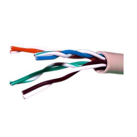 Cable de red UTP categoría 5E, bobina de 305m, diámetro 5.5mm, gris