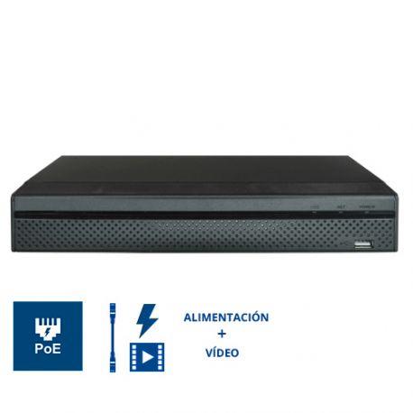 XS-NVR6208-4K8P NVR X-Security de 8 cámaras IP de 12 Mpx 8 PoE 2 HDD