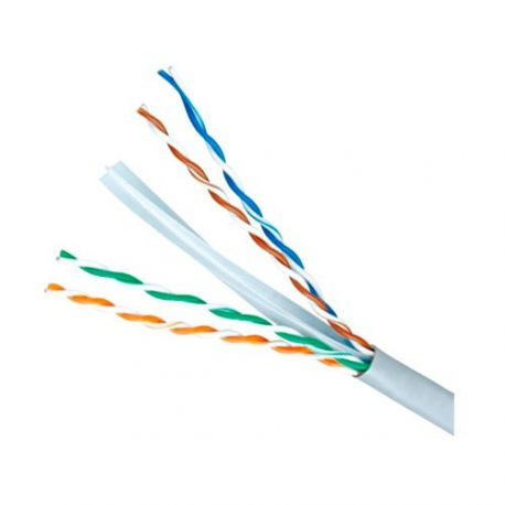 Cable de red UTP categoría 6E, bobina de 305m, diámetro 5.5mm, gris