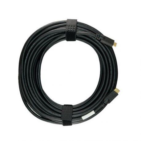 Cable HDMI de 25m apantallado con amplificador, alta velocidad, negro