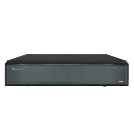 Grabador NVR X-Security de 32 cámaras IP de 12 Mpx. y alarmas, admite 4 HDD