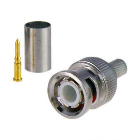 Conector BNC macho de crimpar para cable RG59