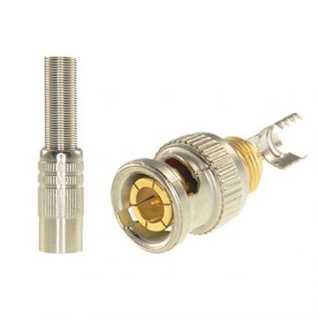 Conector BNC macho de soldar para cable RG59