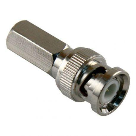 Conector BNC macho de enroscar para cable RG59