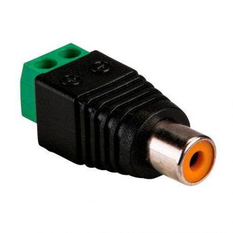 Conector RCA hembra a dos terminales de conexión