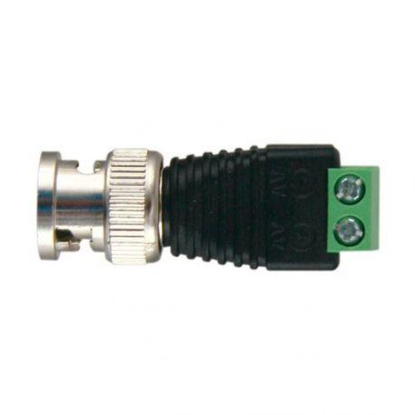 Conector BNC macho a dos terminales de conexión