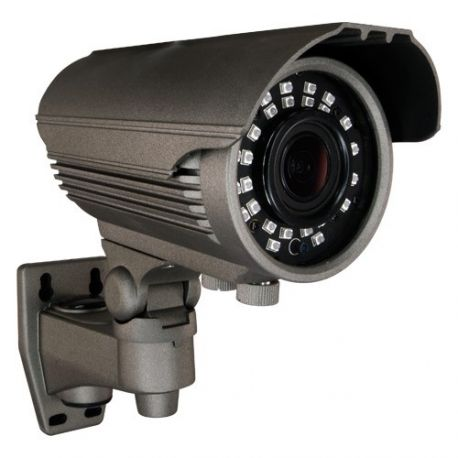 Cámara de seguridad de exterior 4 en 1, HD 720p, Zoom manual x4, visión nocturna 40m, gris
