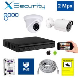 Diseña tu Kit de Videovigilancia IP X-Security de 2 Mpx. a medida