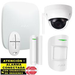 Kit de Alarma Ajax AJ-HUBKIT-W IP y GSM/GPRS con Cámara IP Wifi domo
