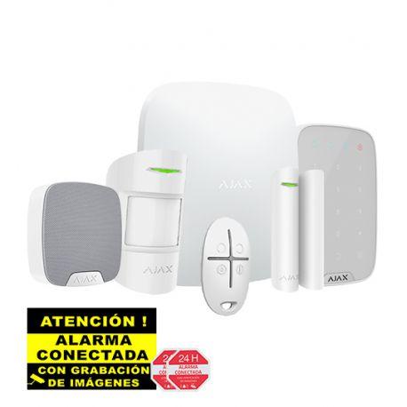 Kit de Alarma Ajax AJ-HUBKIT-W con IP y GSM/GPRS con Teclado y Sirena