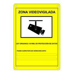 Cartel homologado de zona videovigilada