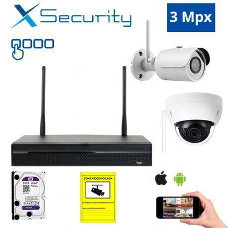 Diseña tu Kit de Videovigilancia IP Wifi X-Security de 3 Mpx. a medida