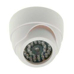 Cámara falsa domo con LEDs operativos