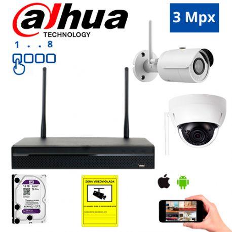 Diseña tu Kit de Videovigilancia IP Wifi Dahua de 3 Mpx. a medida