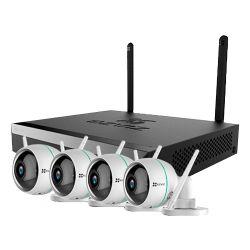 EZ-BW3424B0-E40 Kit IP Wifi Ezviz de 4 cámaras de 2 Mpx