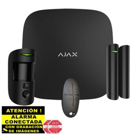 AJ-STARTERKIT-CAM-B Kit de Alarma Ajax negro AJ-HUB2-B con PIR con Cámara