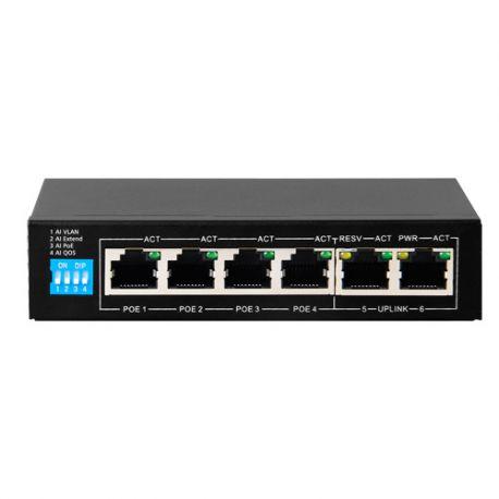SF-SW0604POE-G-60 Switch Gigabite de 4 PoE + 2 Uplink