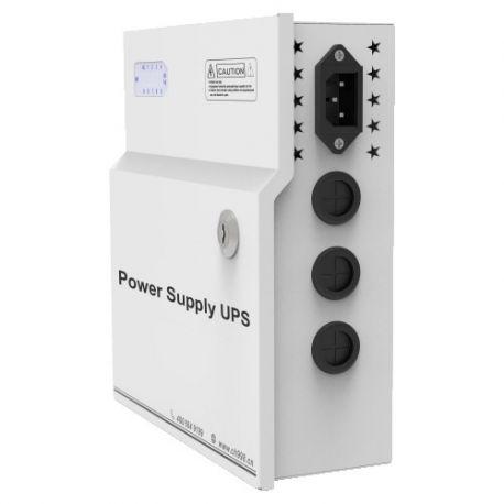 PD120W-9-12V-UPS Caja de distribución de alimentación de 9 salidas con función UPS