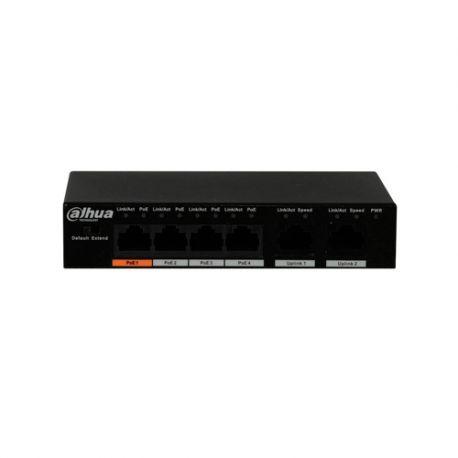 PFS3006-4ET-60 Switch Dahua 4 PoE + 2 uplink
