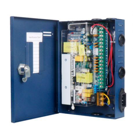 PD-120-9-SLIM Caja de distribución de alimentación de 9 salidas 12V 10A