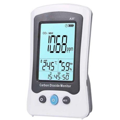 MT-CO2-A37 Medidor de CO2, temperatura y humedad con batería