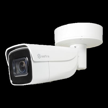 SF-IPB798ZUWHA-8U-AI Cámara IP Safire 8 Mpx (4K), Zoom 4x, IR 60m