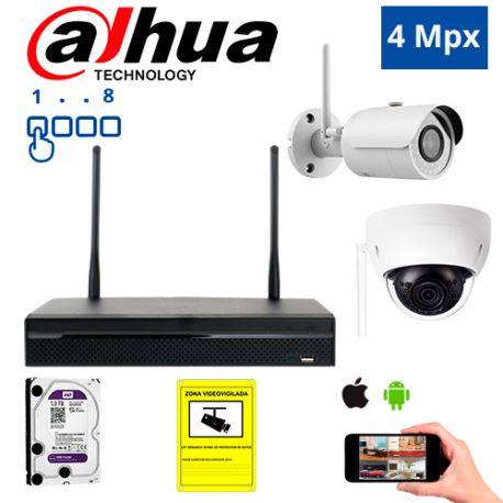 Diseña tu Kit de Videovigilancia IP Wifi Dahua de 4 Mpx. a medida