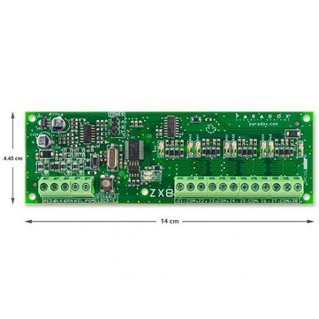 Módulo Paradox ZX8SP expansor de 8 zonas cableadas Grado 2
