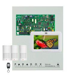 Kit Paradox Magellan MG5050 con caja metálica grande, teclado TM50, 3 PIRs y mando