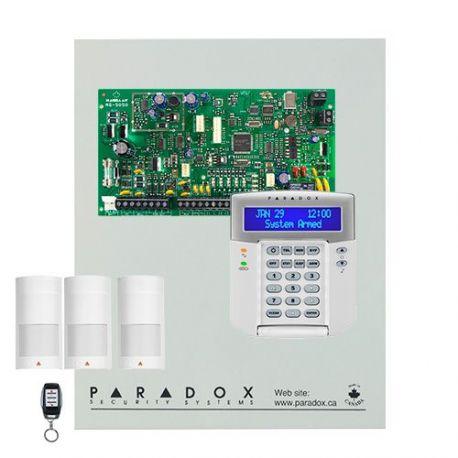 Kit Paradox Magellan MG5050 con caja metálica grande, teclado KLCD+, 3 PIRs y mando