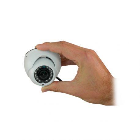 Cámara de vigilancia minidomo con audio 4 en 1, Full HD, gran angular de 94 grados, alcance IR 8m
