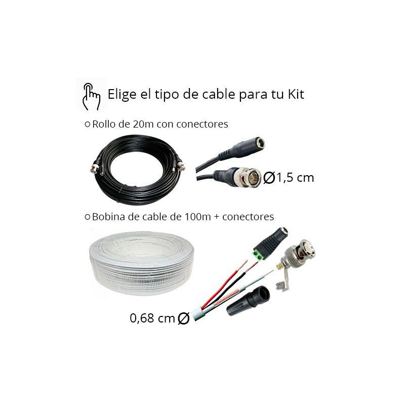 Kit de videovigilancia hd de 1 a 4 c maras de exterior - Camaras videovigilancia exterior ...