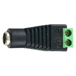 Conector DC hembra a dos terminales de conexión