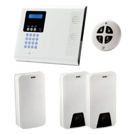 Kit de Alarma iConnect con videoverificación, central, 2 PIR Cam, detector y mando