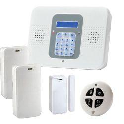 Kit de Alarma SecuPlace con Wifi y GPRS/GSM, central, 2 detectores, contacto y mando
