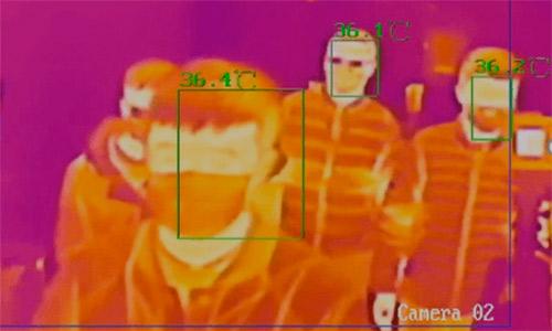 Cámaras termográficas IP con medición de temperatura