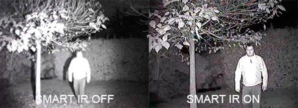 Función Smart-IR para cámaras de vigilancia